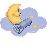 Wandlampe, Wolke La Luna, hellblau