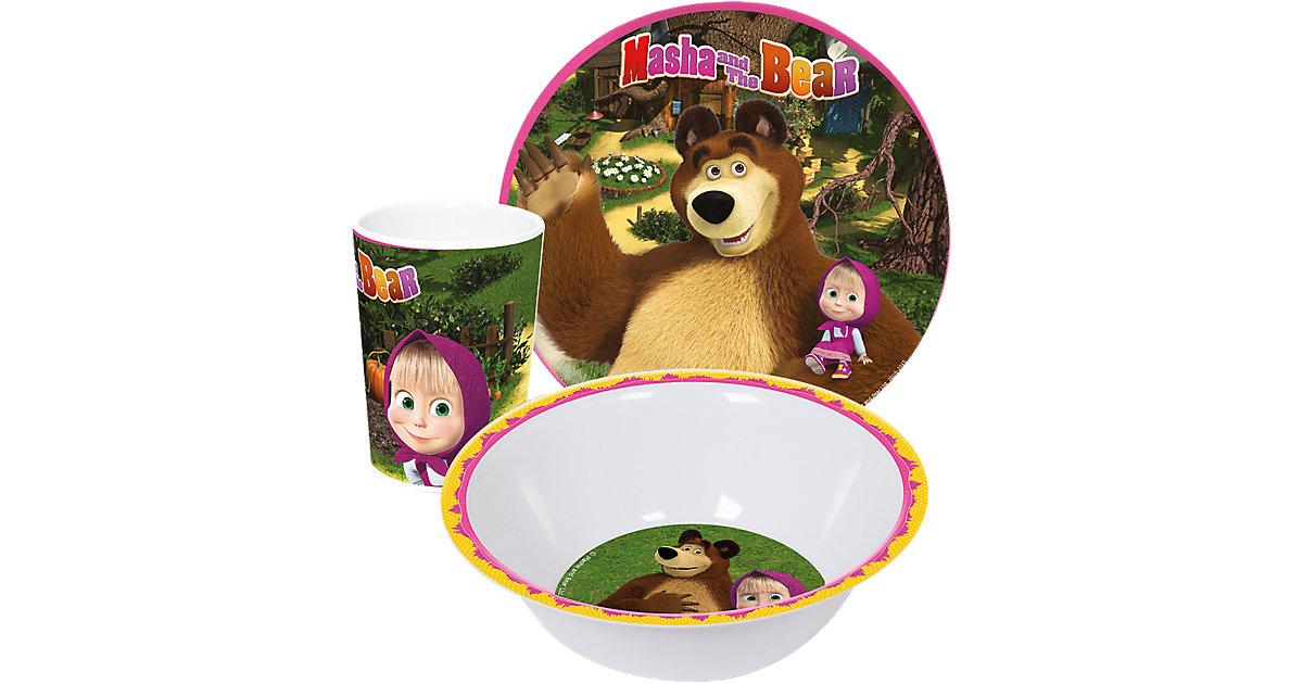 Kindergeschirr Melamin Mascha und der Bär, 3-tlg.