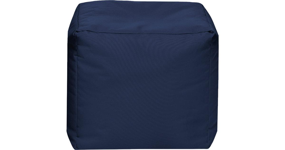 Sitzhocker CUBE SCUBA, 40 x 40 cm, jeansblau dunkelblau