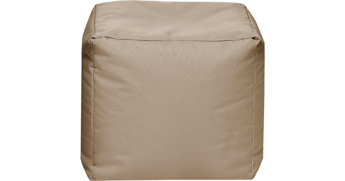Sitzhocker CUBE SCUBA, 40 x 40 cm, khaki beige