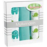 Mullwindeln, Funny Fant aqua, 3er Pack