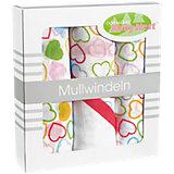Mullwindeln, Herz multicolor, 3er Pack