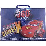 Пластиковая папка-чемодан 26*33,5*5 см, Тачки
