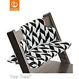 Tripp Trapp® Sitzkissen, Black Chevron, beschichtet