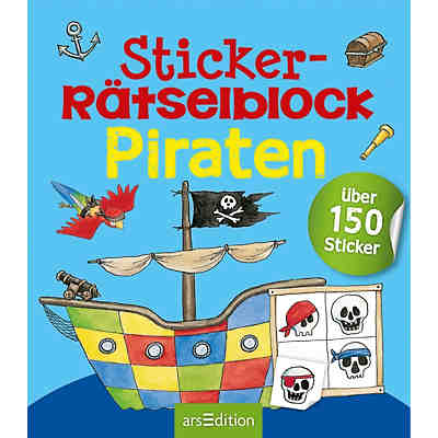 Sticker-Rätselblock: Piraten