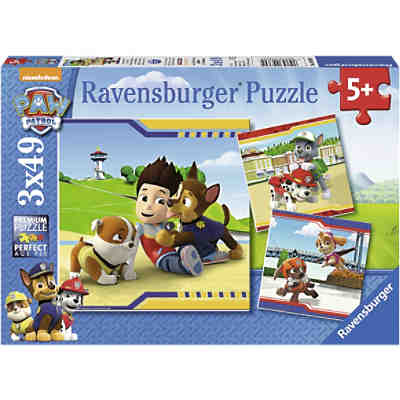 Puzzleset Paw Petrol: Helden mit Fell 3 x 49 Teile