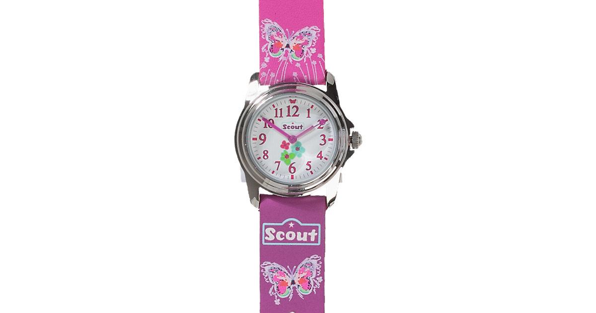 Armbanduhr PURPLE BUTTERFLY rosa Mädchen Kinder