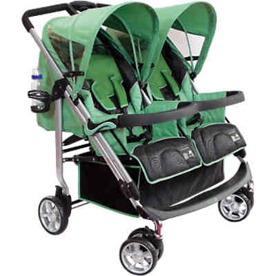 Zwillingsbuggy ALU Twice, green, 2016