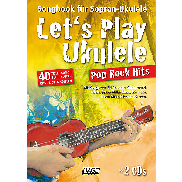 Let's Play Ukulele Pop Rock Hits, mit 2 Audio-CDs