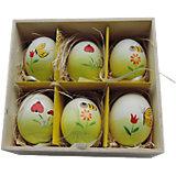 """Декоративный набор пасхальных яиц """"Пчелки"""" 6 шт"""