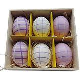 """Декоративный набор пасхальных яиц """"Фиолетовый"""" 6 шт"""