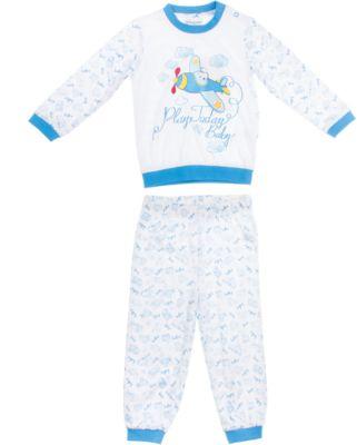 Комплект: футболка с длинным рукавом и брюки для мальчика PlayToday - голубой