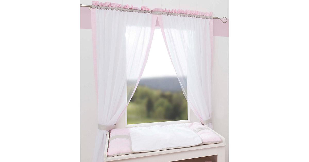 Gardinen Set Kleine Prinzessin (neu), rosa, je 150 x 100 cm (2 Schals)