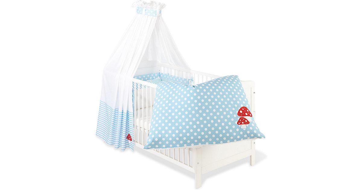 Pinolino Bettset Glückspilz (Hellblau) [Babyausstattung > Textile Bettausstattungen]