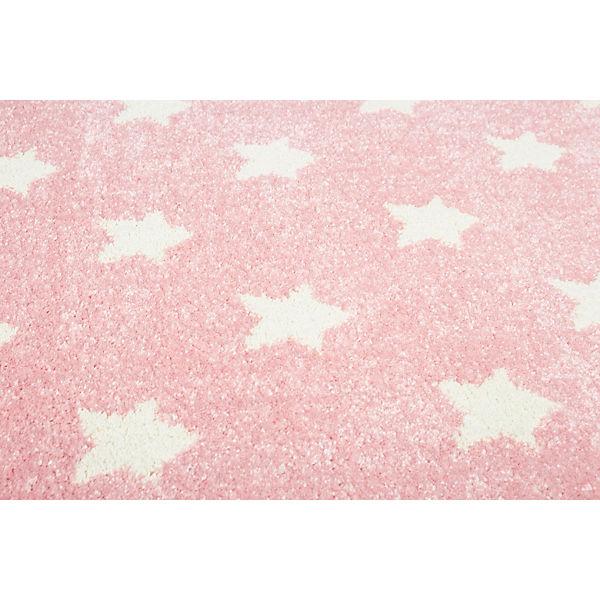 teppich litlle stars rosa wei 160 x 230 cm happy rugs. Black Bedroom Furniture Sets. Home Design Ideas