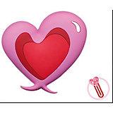 """Закладка-сувенир для книг """"Двухцветное сердце"""""""