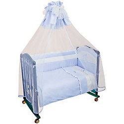 """Борт в кроватку """"Пушистик"""", Сонный гномик, голубой"""