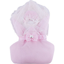 Конверт-одеяло на выписку Жемчужинка, Сонный гномик, розовый