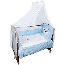 """Борт в кроватку """"Умка"""", Сонный гномик, голубой"""