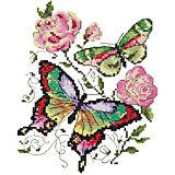 Набор для вышивания крестом «Бабочки и розы»