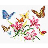 Набор для вышивания крестом «Лилии и бабочки»