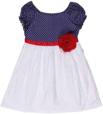 Платье для девочки Sweet Berry - белый/синий