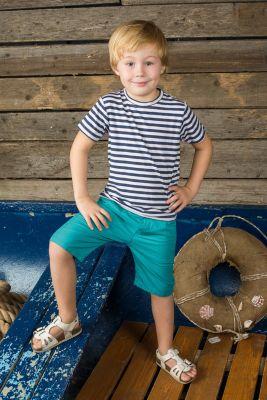 Футболка для мальчика Sweet Berry - синий/белый