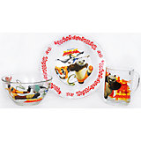 "Набор посуды ""Панда Кунг-Фу"" (3 предмета, стекло)"