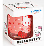 """Стеклянная кружка """"Hello Kitty"""" 250 мл в подарочной упаковке"""