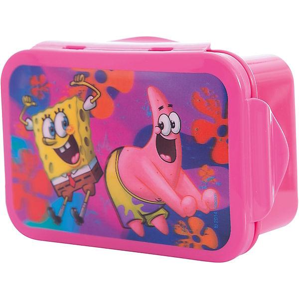 "Бутербродница ""Губка Боб"" 16*10 см, розовый"