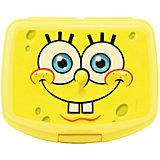 """Желтая бутербродница """"Губка Боб"""" 16,5*13 см"""