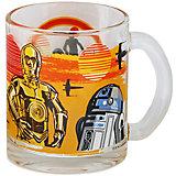 "Стеклянная кружка ""C-3PO и R2D2"" 300 мл, Звездные войны"