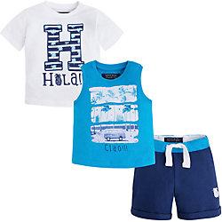 Комплект для мальчика: футболка, майка и шорты Mayoral