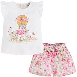 Комплект для девочки: футболка и юбка Mayoral