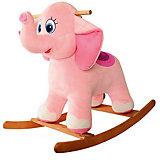 Слоник-качалка розовый, СмолТойс