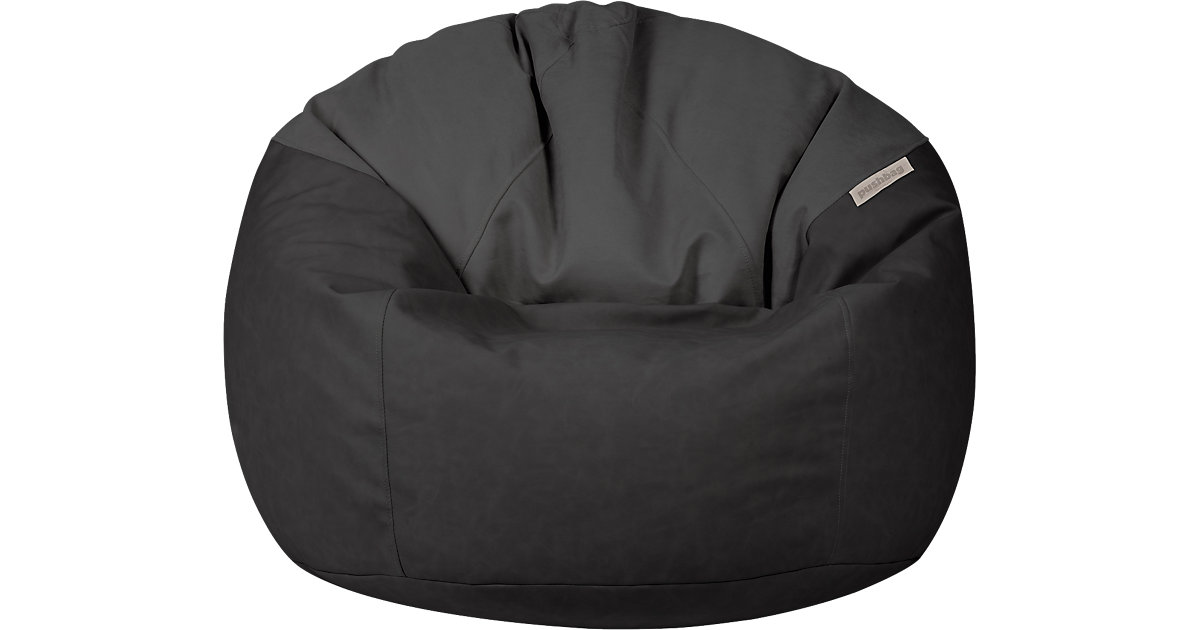 Sitzsack Toby, Kunstleder/Flachgewebe, anthrazit schwarz