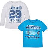 Комплект: футболка с длинным рукавом и футболка для мальчика Mayoral