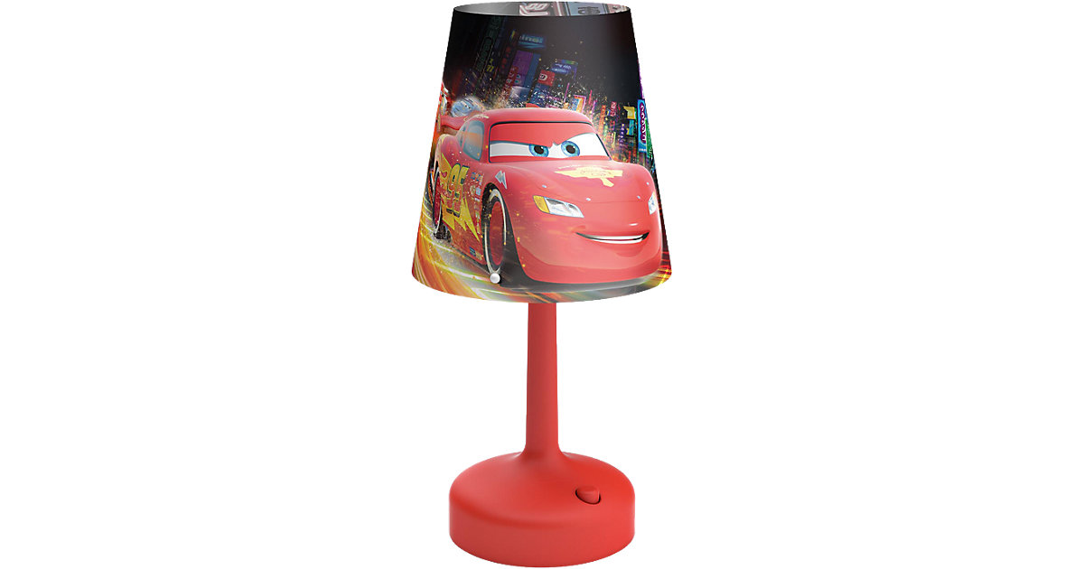 Tragbare LED Nacht-/Tischleuchte Cars rot