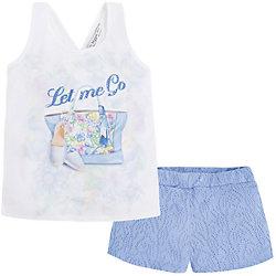 Комплект для девочки: майка и шорты Mayoral