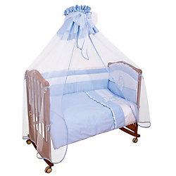Постельное белье Пушистик 7 пред., Сонный гномик, голубой