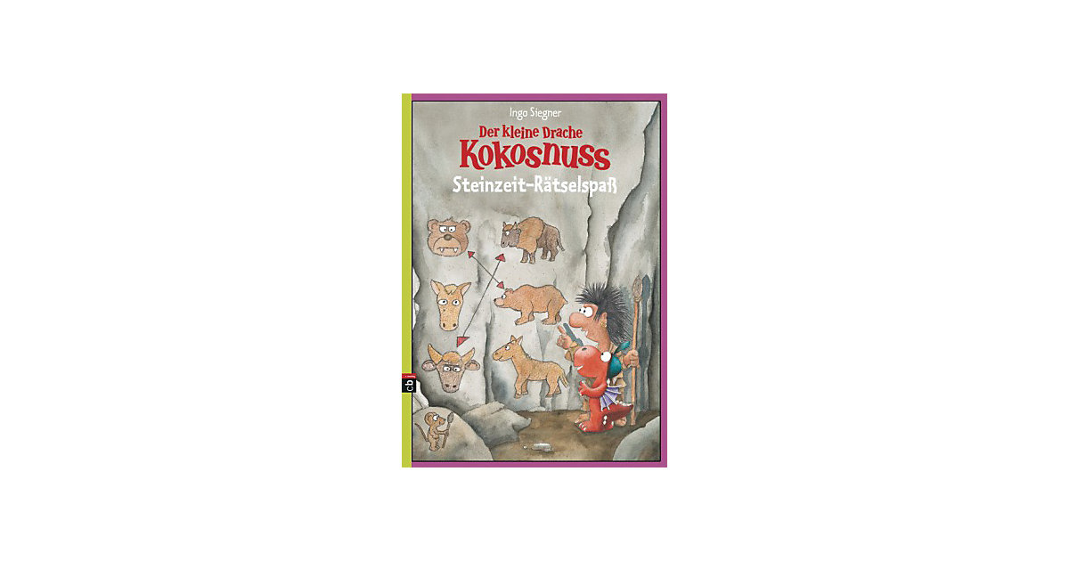 Buch - Der kleine Drache Kokosnuss - Steinzeit-Rätselspaß