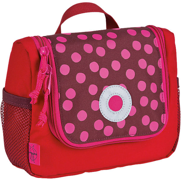 Kulturbeutel 4kids, Mini Washbag, Dottie red
