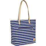 Wickeltasche Casual Tote Bag, Striped navy