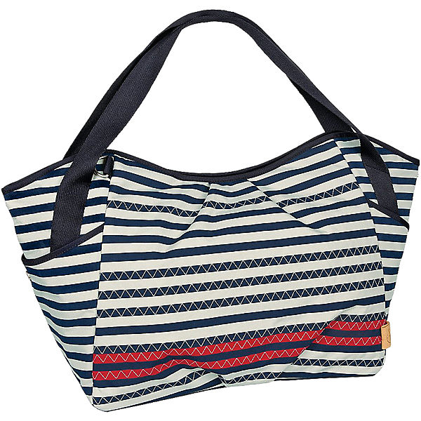 Zwillings - Wickeltasche Casual, Twin Bag, Striped Zigzag navy