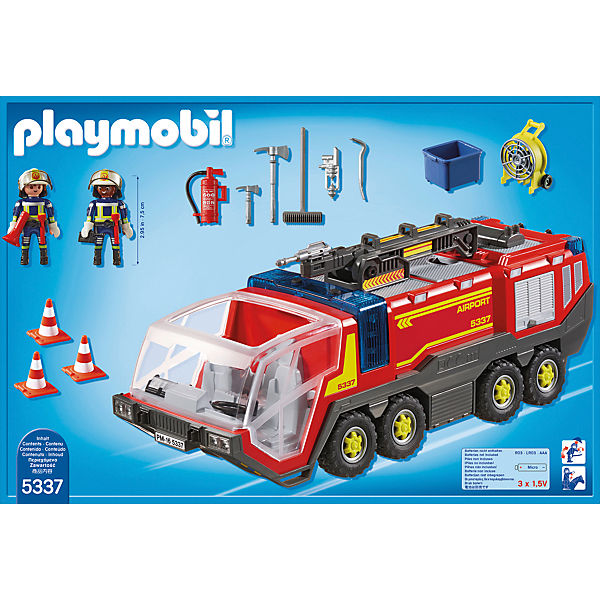 playmobil 5337 flughafenl schfahrzeug mit licht und sound playmobil city action mytoys. Black Bedroom Furniture Sets. Home Design Ideas