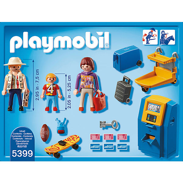 playmobil 5399 familie am check in automat playmobil city action mytoys. Black Bedroom Furniture Sets. Home Design Ideas