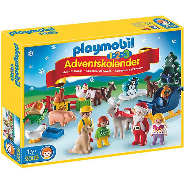 Playmobil 9009 1 2 3 adventskalender weihnacht auf dem for Adventskalender duplo