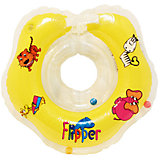 Круг на шею Flipper FL001 для купания малышей 0+, Roxy-Kids, желтый