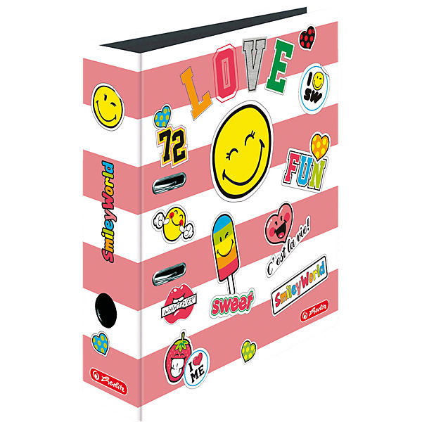 Ordner A4 maX.file SmileyWorld Girly, 8 cm