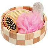 """Набор для ванной и бани """"Розовое облако"""" (3 предмета)"""
